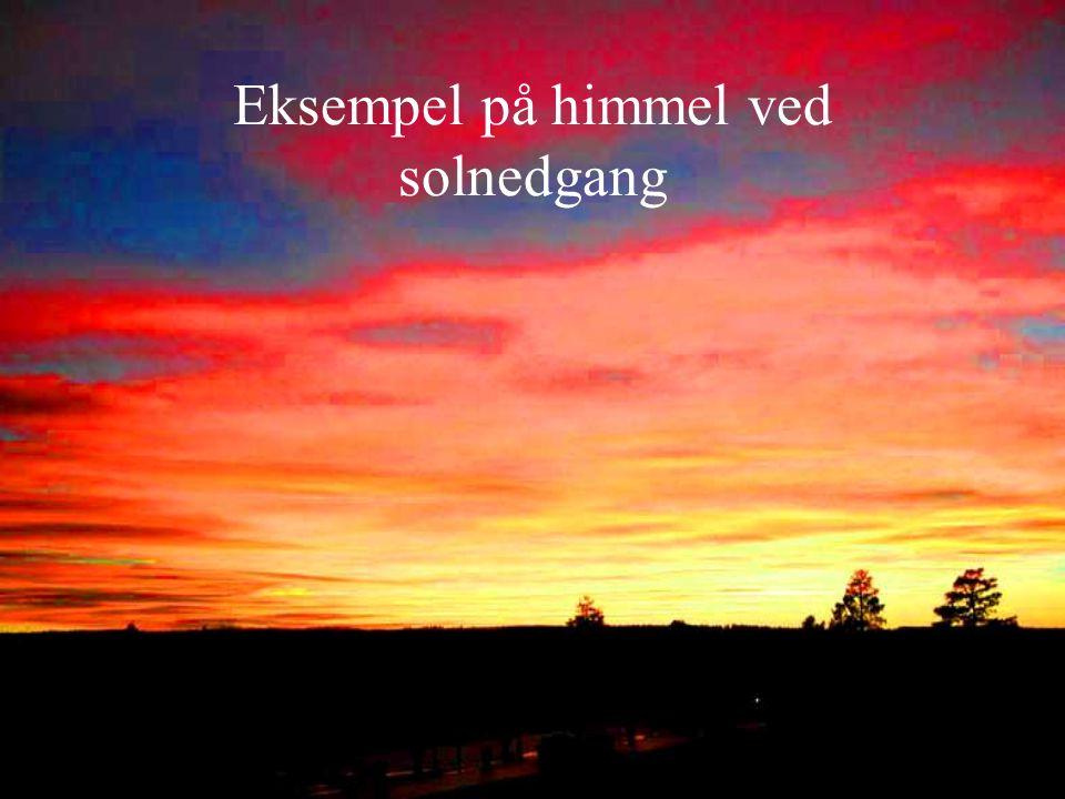 Eksempel på himmel ved solnedgang