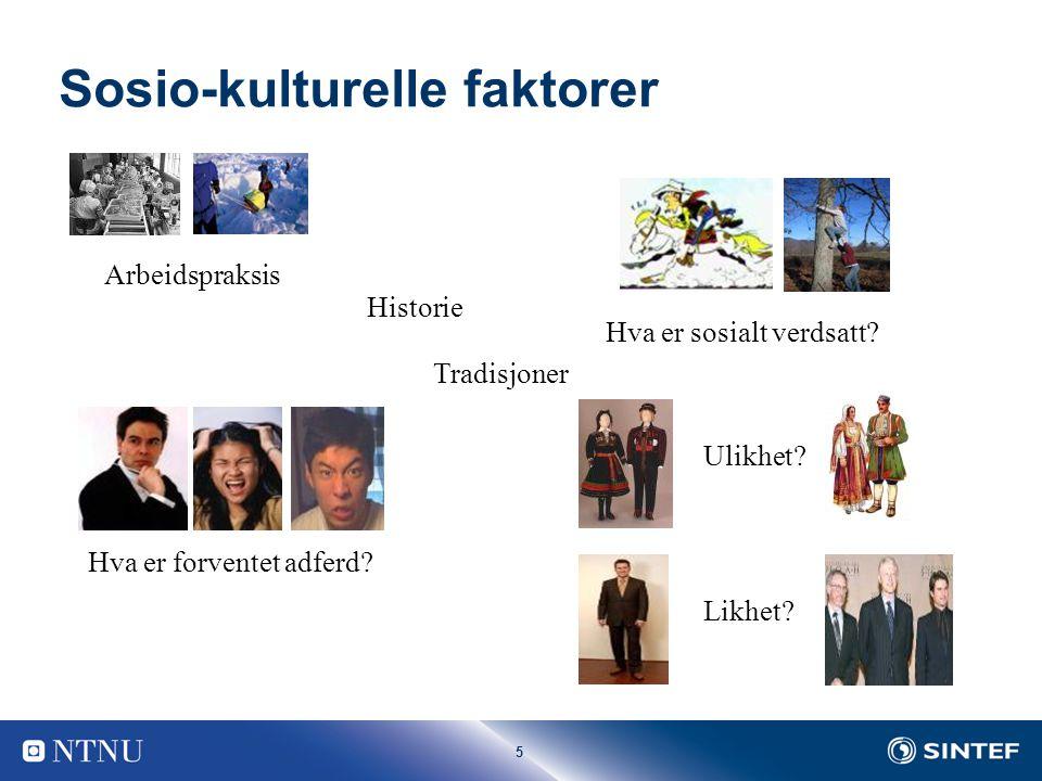 Sosio-kulturelle faktorer