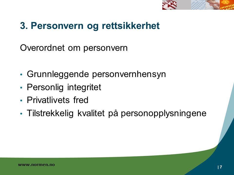 3. Personvern og rettsikkerhet