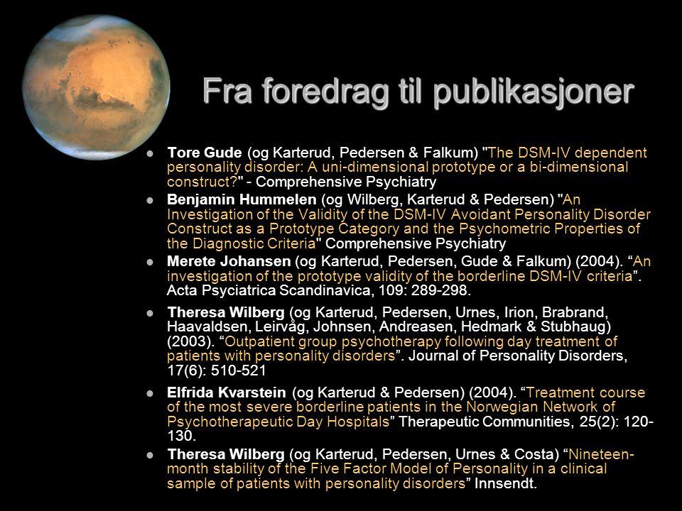 Fra foredrag til publikasjoner