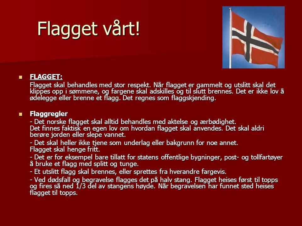 Flagget vårt! FLAGGET: