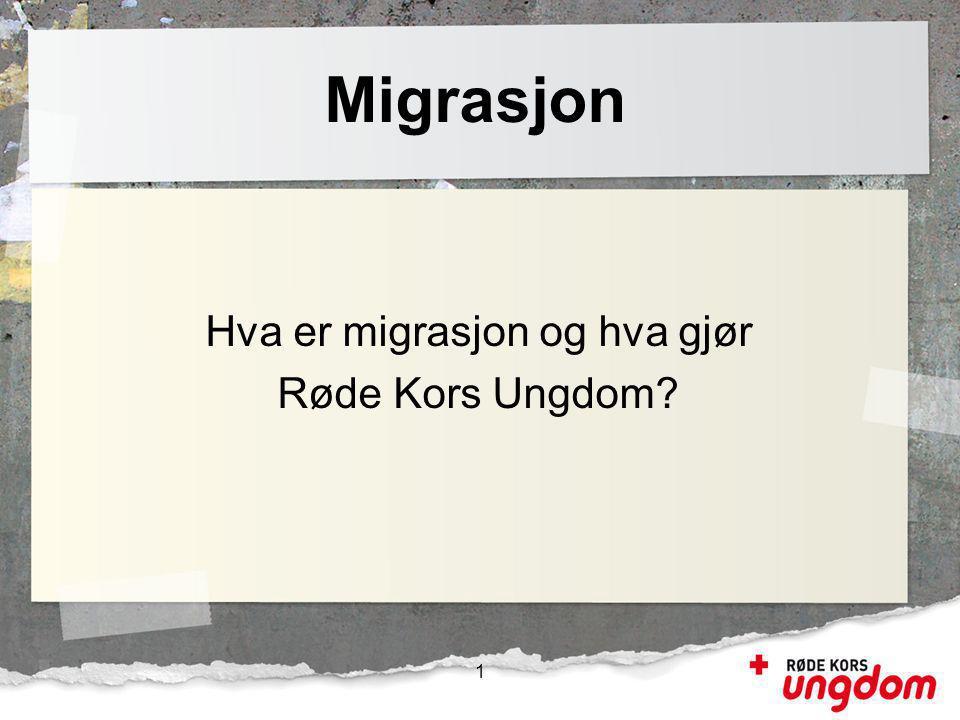 Hva er migrasjon og hva gjør Røde Kors Ungdom