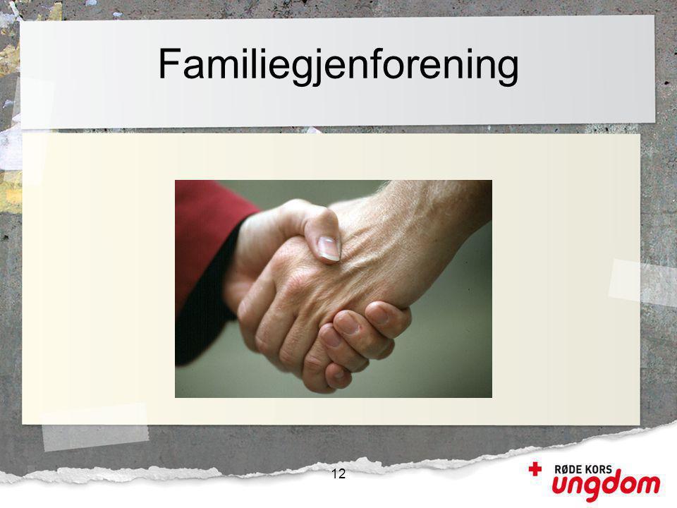 Familiegjenforening 12 Et familiemedlem i utlandet kan søke om