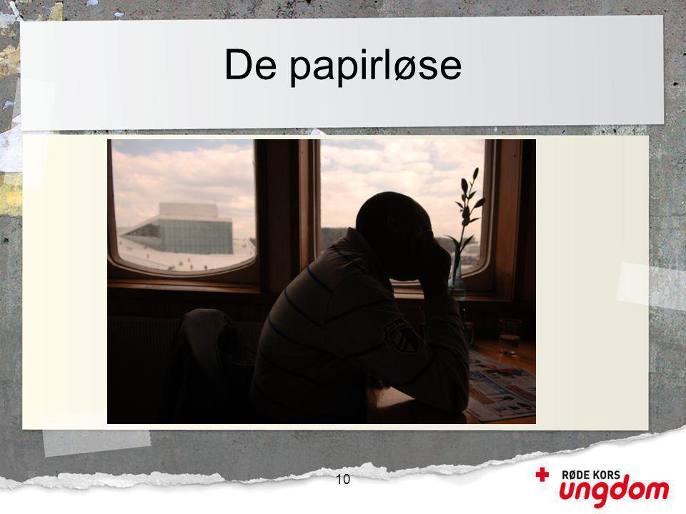 De papirløse 10 Irregulære migranter defineres som personer som