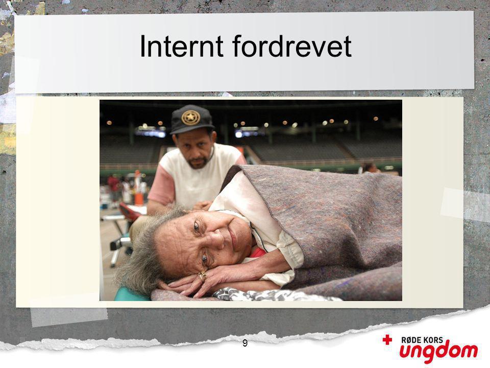 Internt fordrevet 9 Internt fordrevne er personer som har blitt