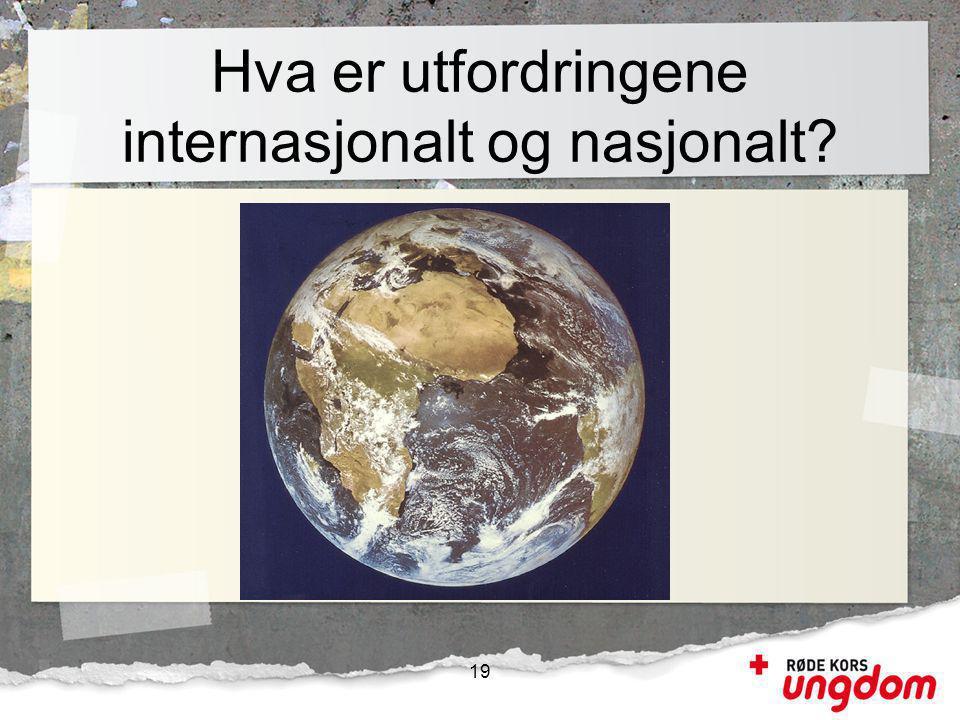 Hva er utfordringene internasjonalt og nasjonalt