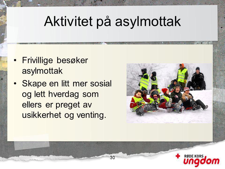 Aktivitet på asylmottak