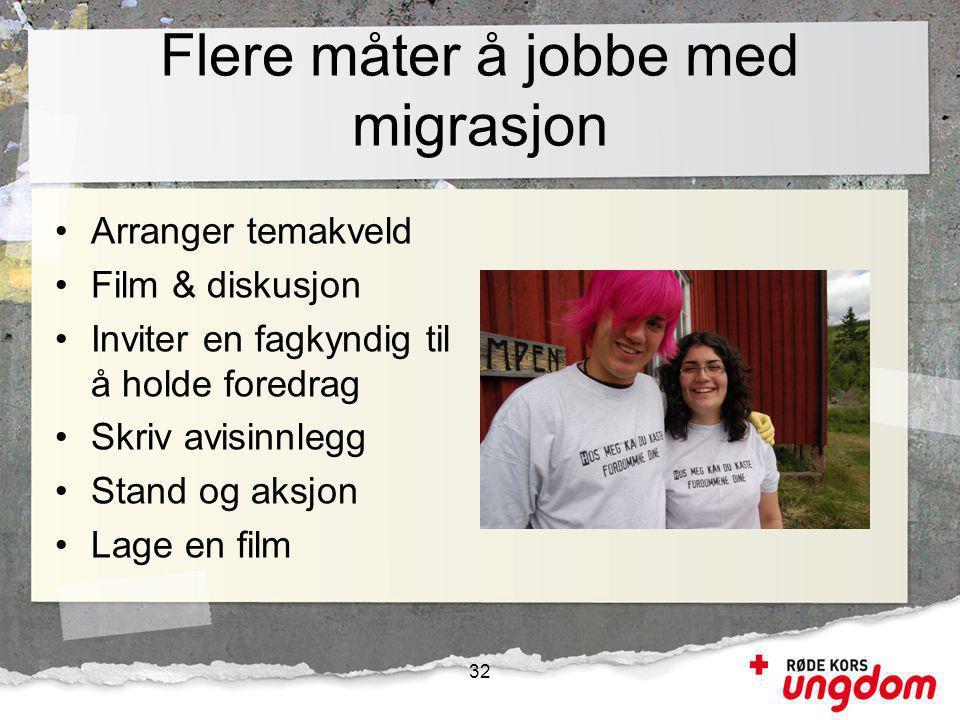 Flere måter å jobbe med migrasjon