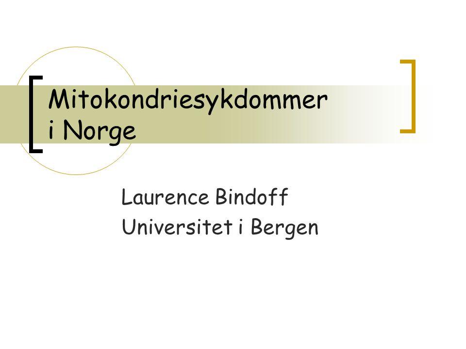 Mitokondriesykdommer i Norge