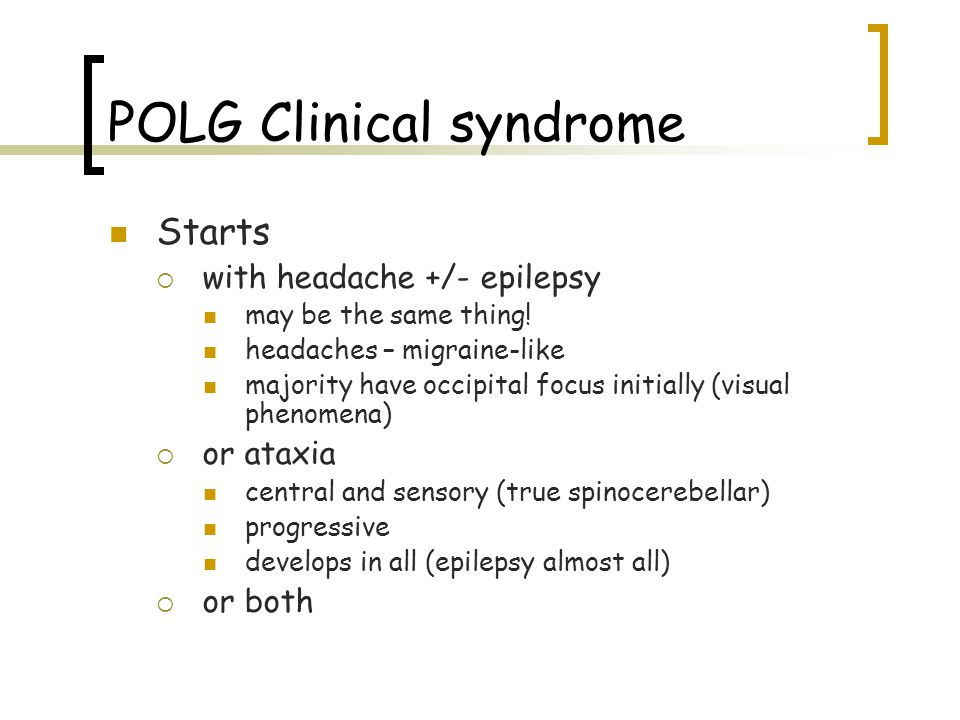 POLG Clinical syndrome