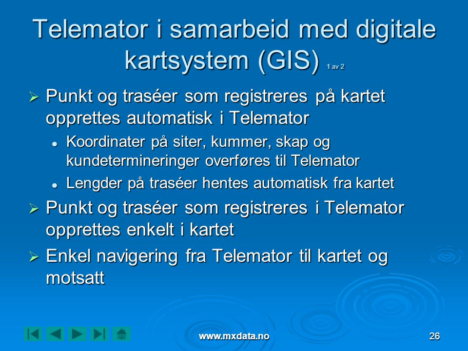 Telemator i samarbeid med digitale kartsystem (GIS) 1 av 2