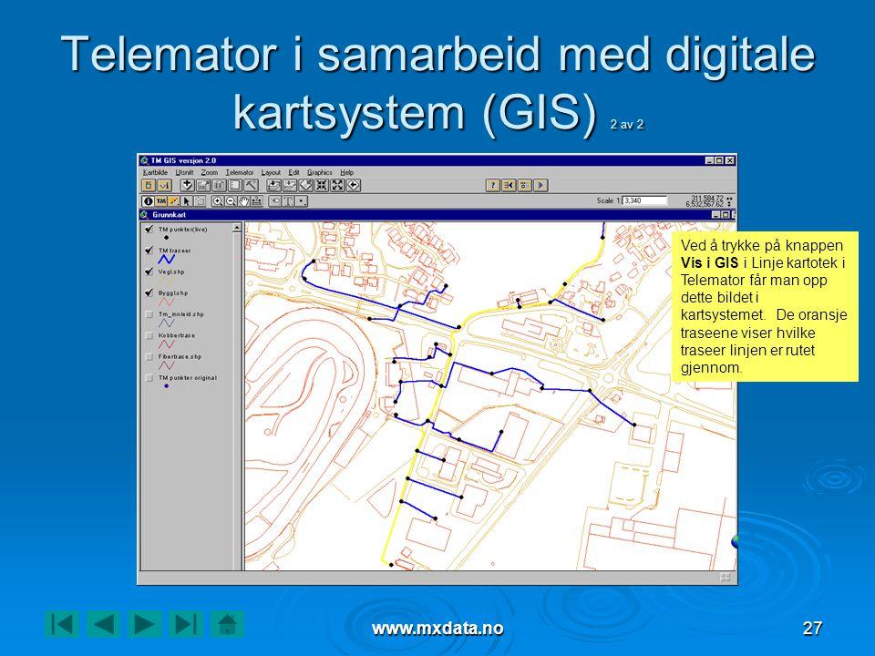 Telemator i samarbeid med digitale kartsystem (GIS) 2 av 2