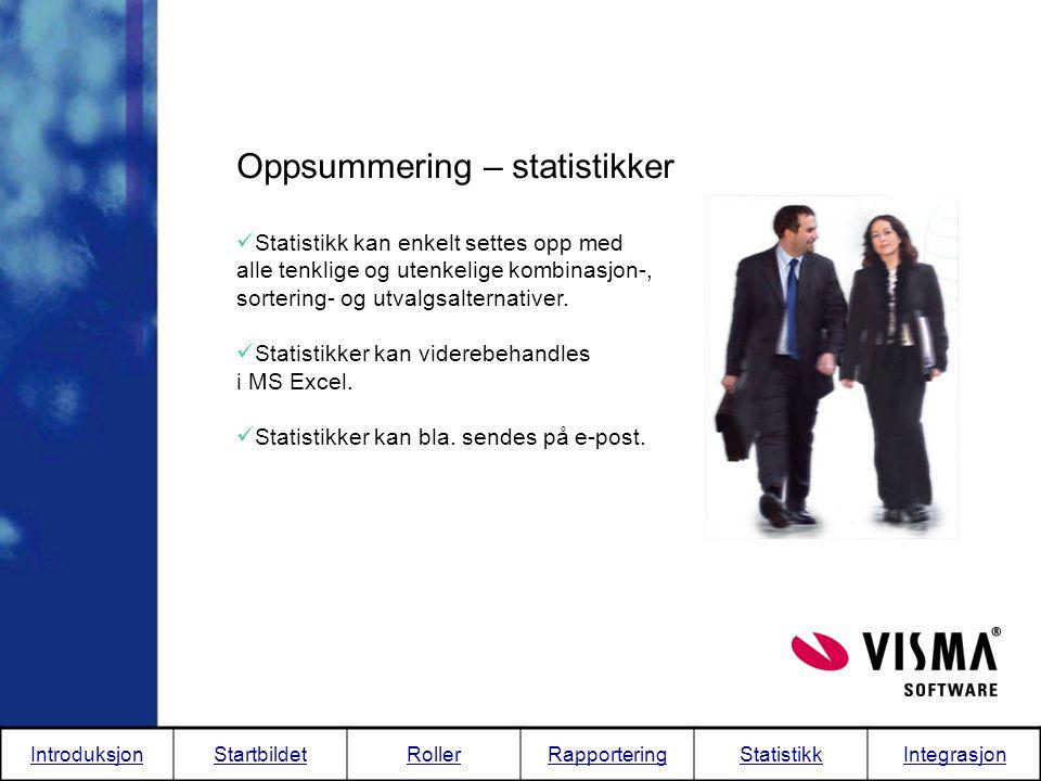 Oppsummering – statistikker