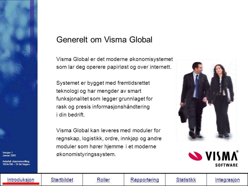 Generelt om Visma Global