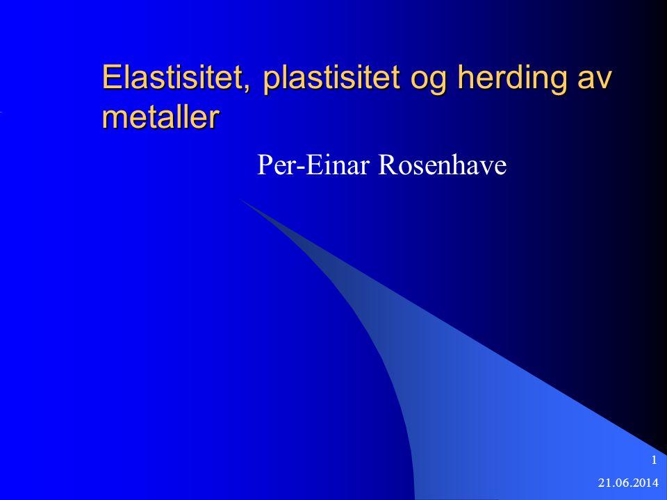 Elastisitet, plastisitet og herding av metaller