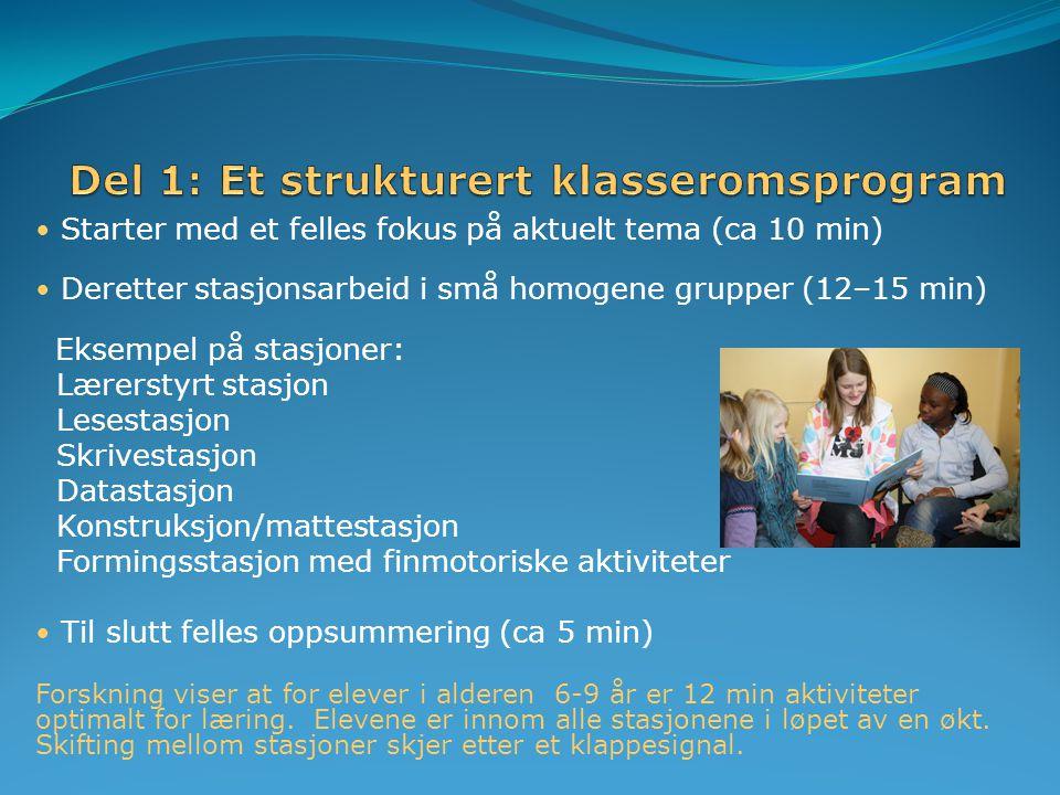 Del 1: Et strukturert klasseromsprogram