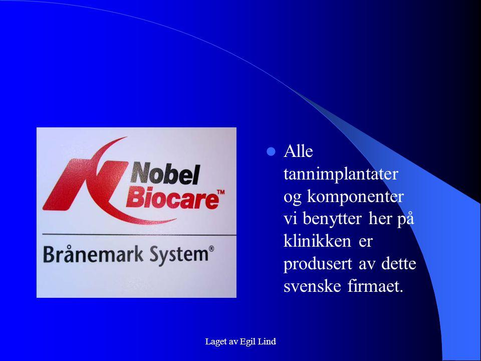 Alle tannimplantater og komponenter vi benytter her på klinikken er produsert av dette svenske firmaet.