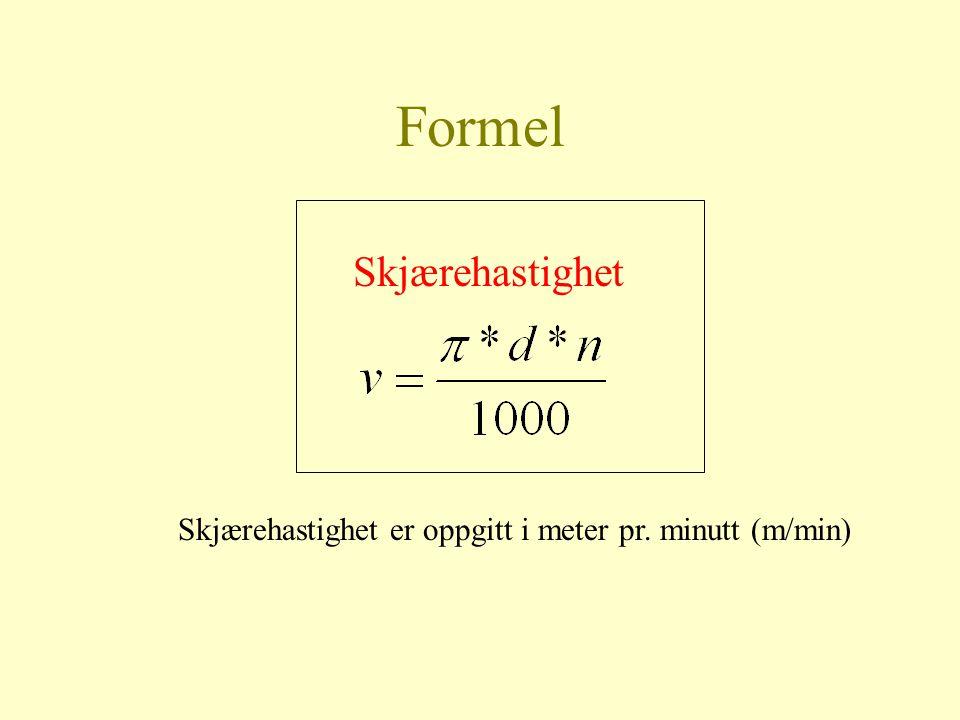 Formel Skjærehastighet