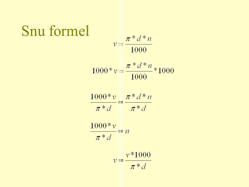Snu formel