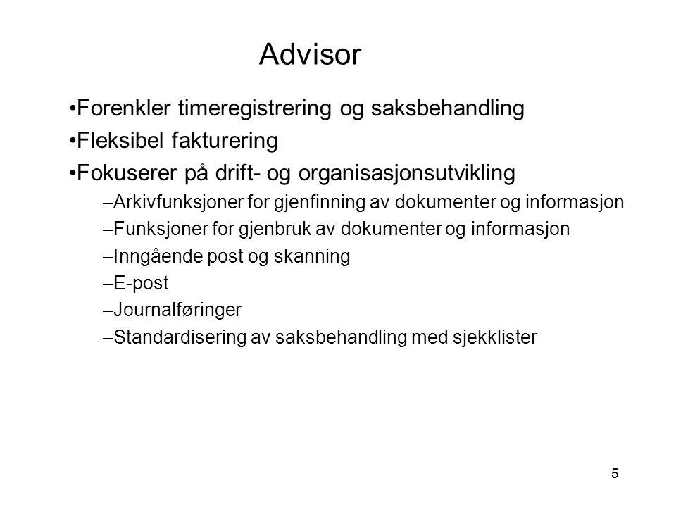 Advisor Forenkler timeregistrering og saksbehandling