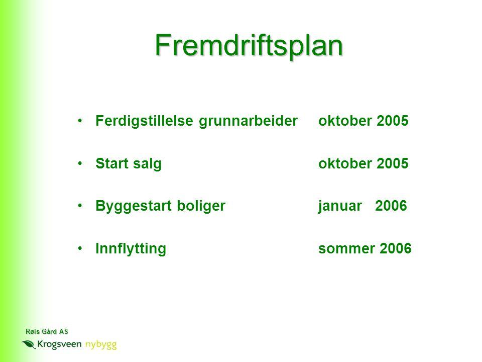 Fremdriftsplan Ferdigstillelse grunnarbeider oktober 2005