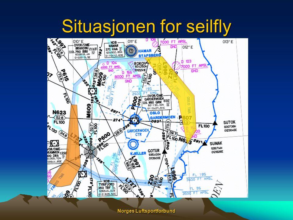 Situasjonen for seilfly