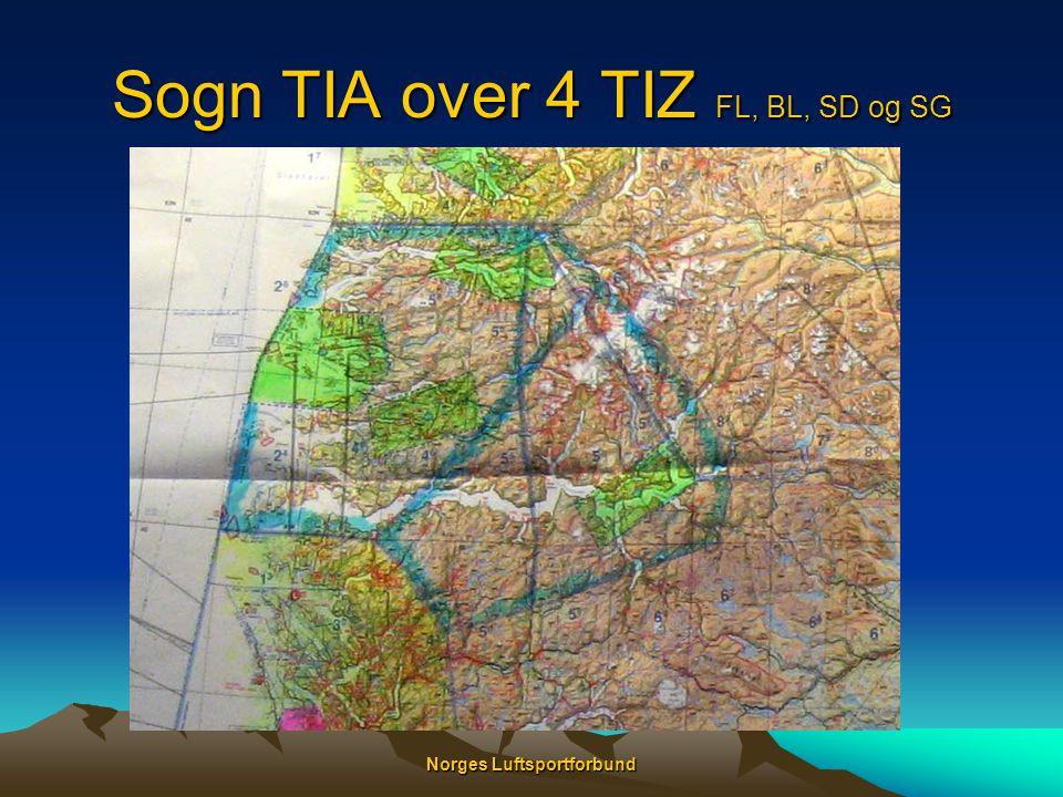 Sogn TIA over 4 TIZ FL, BL, SD og SG