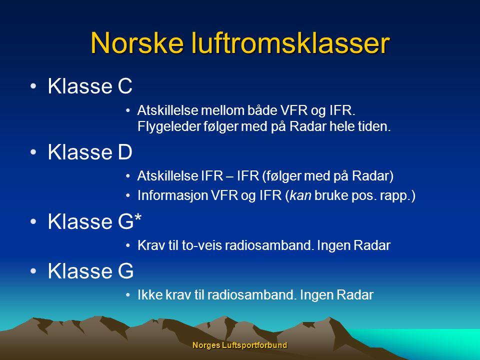 Norske luftromsklasser