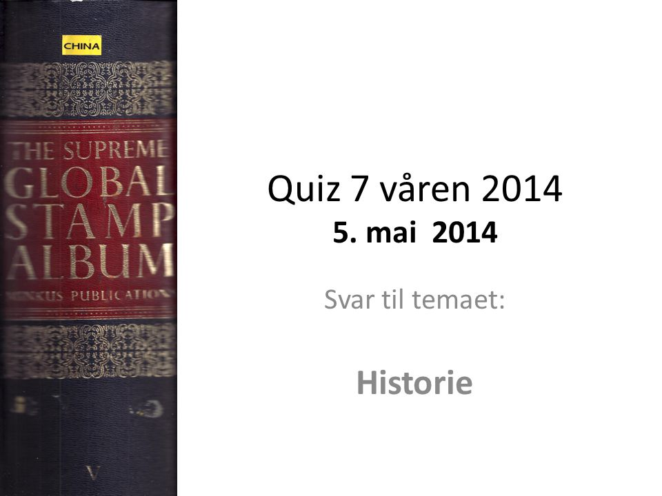 Svar til temaet: Historie