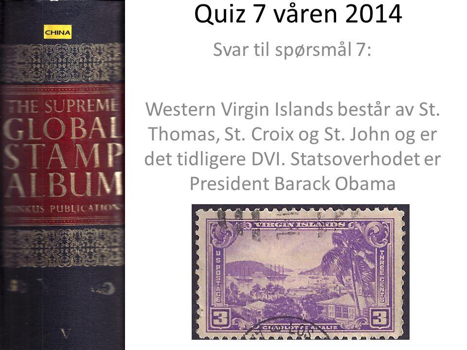 Quiz 7 våren 2014 Svar til spørsmål 7: