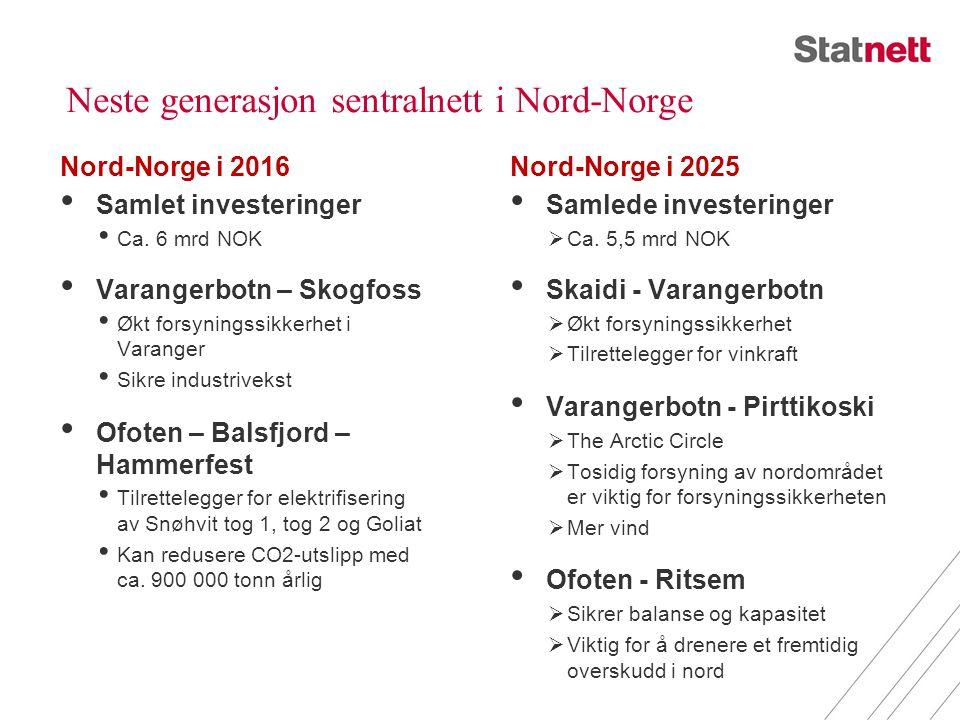 Neste generasjon sentralnett i Nord-Norge