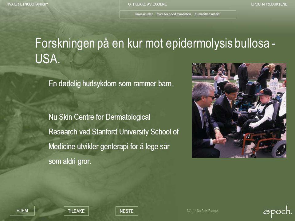 Forskningen på en kur mot epidermolysis bullosa - USA.