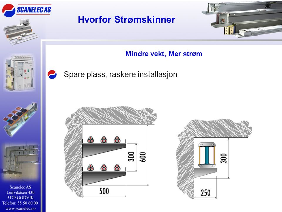 Hvorfor Strømskinner Spare plass, raskere installasjon