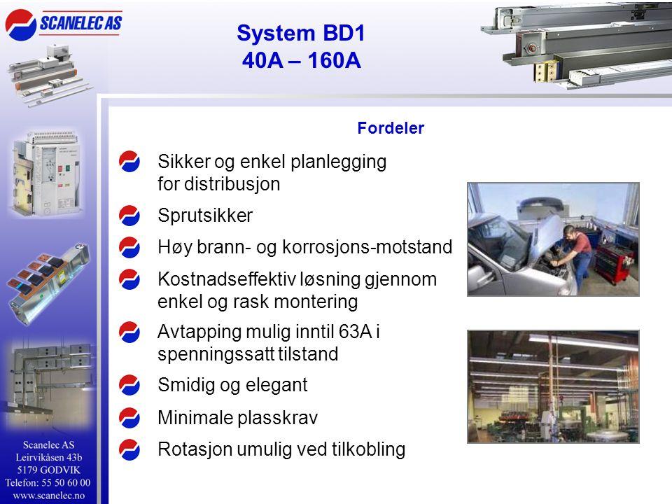 System BD1 40A – 160A Sikker og enkel planlegging for distribusjon