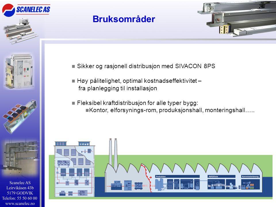 Bruksområder Sikker og rasjonell distribusjon med SIVACON 8PS