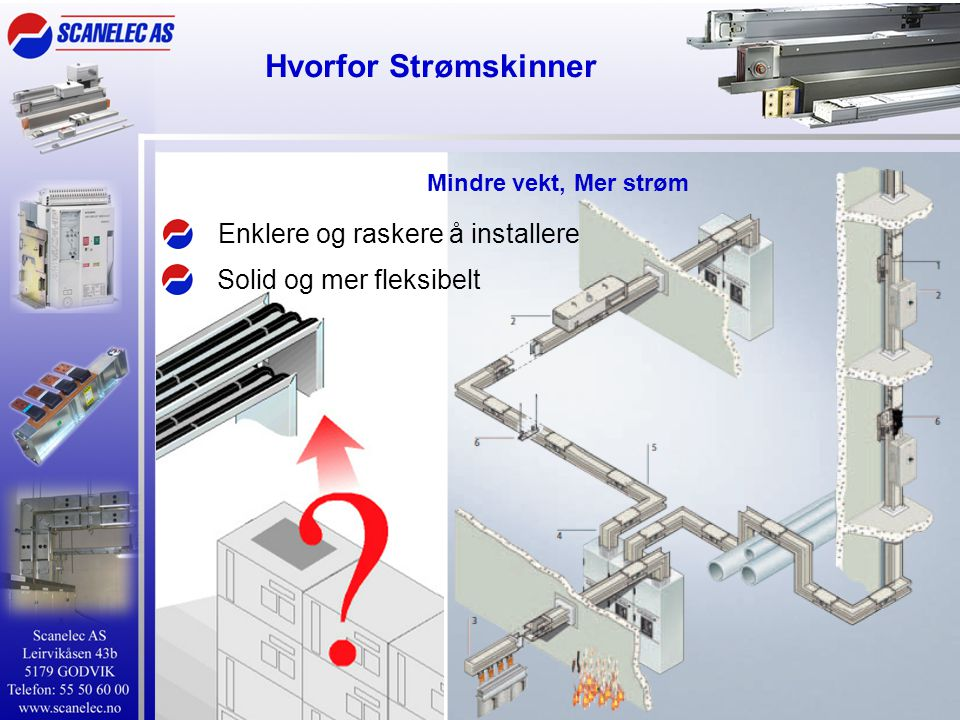 Hvorfor Strømskinner Enklere og raskere å installere