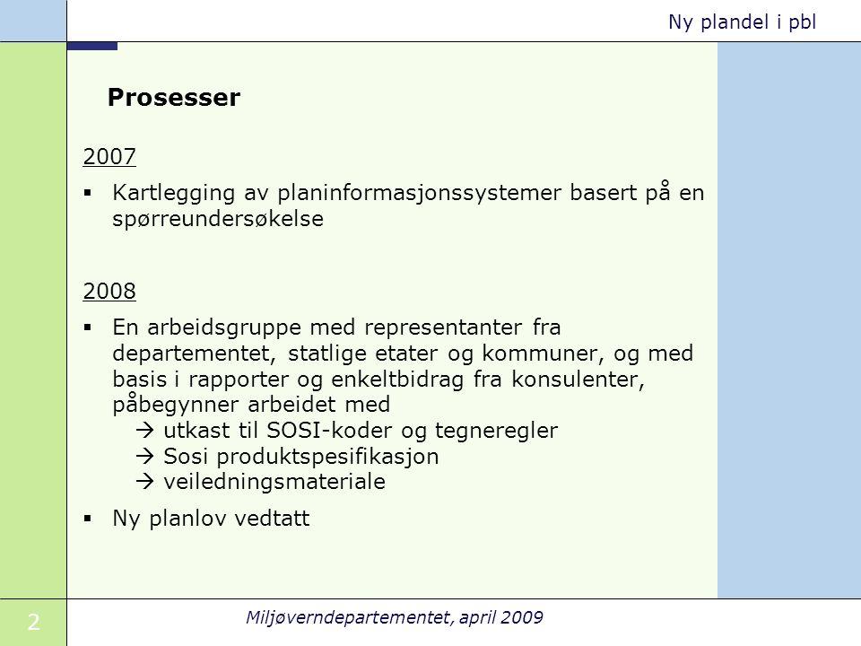 Prosesser 2007. Kartlegging av planinformasjonssystemer basert på en spørreundersøkelse. 2008.
