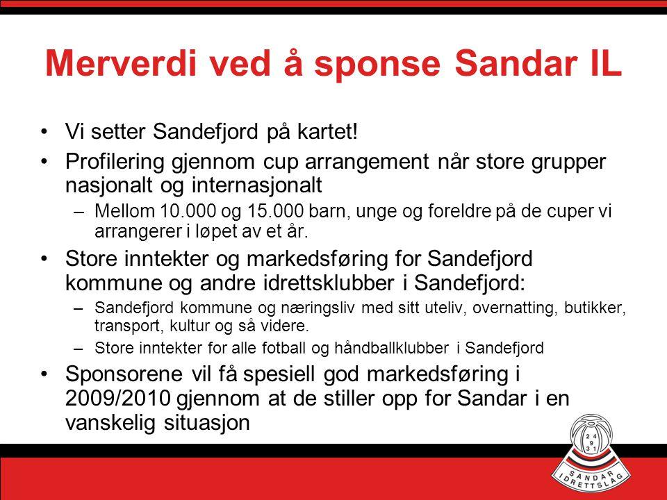 Merverdi ved å sponse Sandar IL