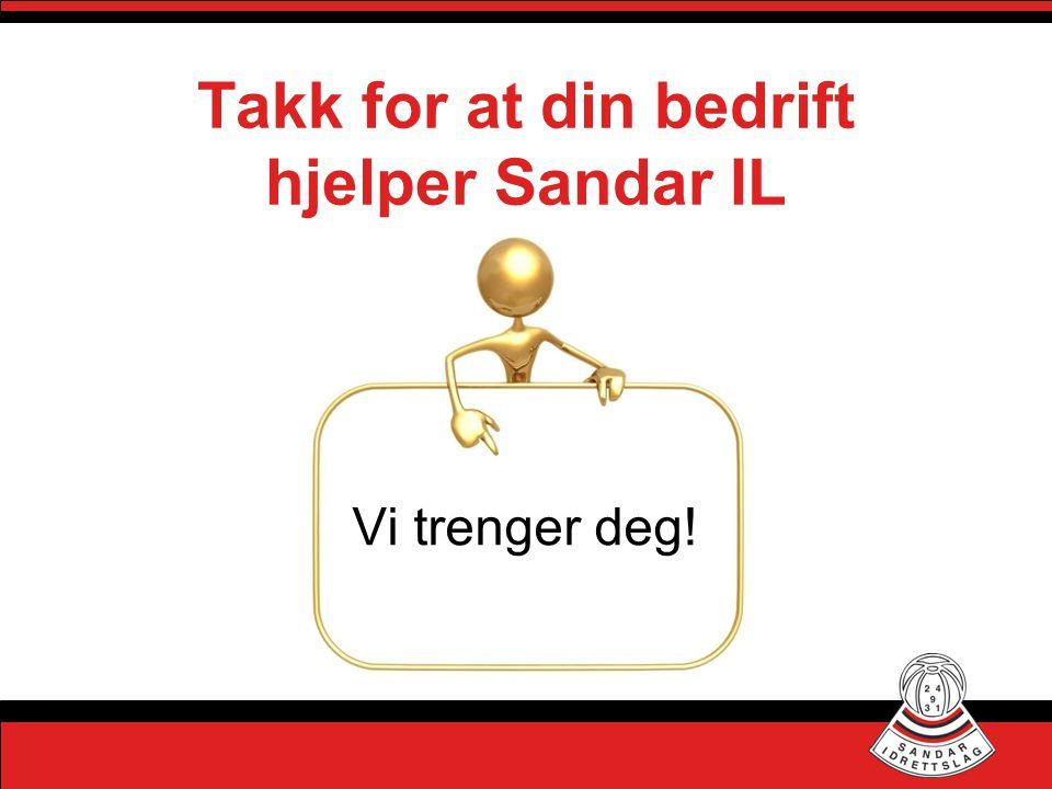 Takk for at din bedrift hjelper Sandar IL