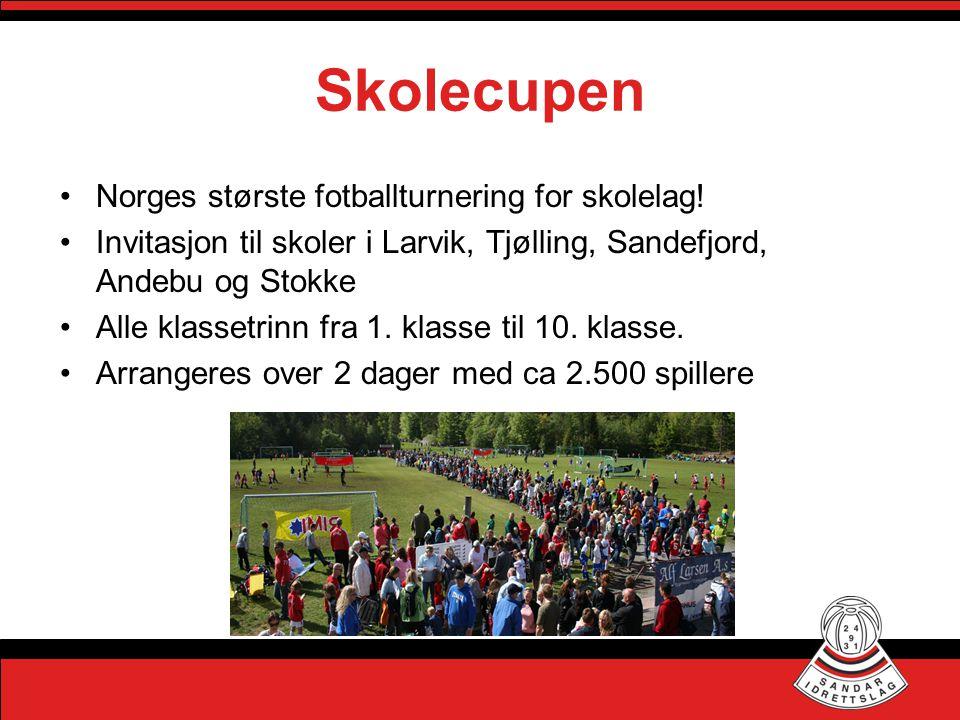 Skolecupen Norges største fotballturnering for skolelag!