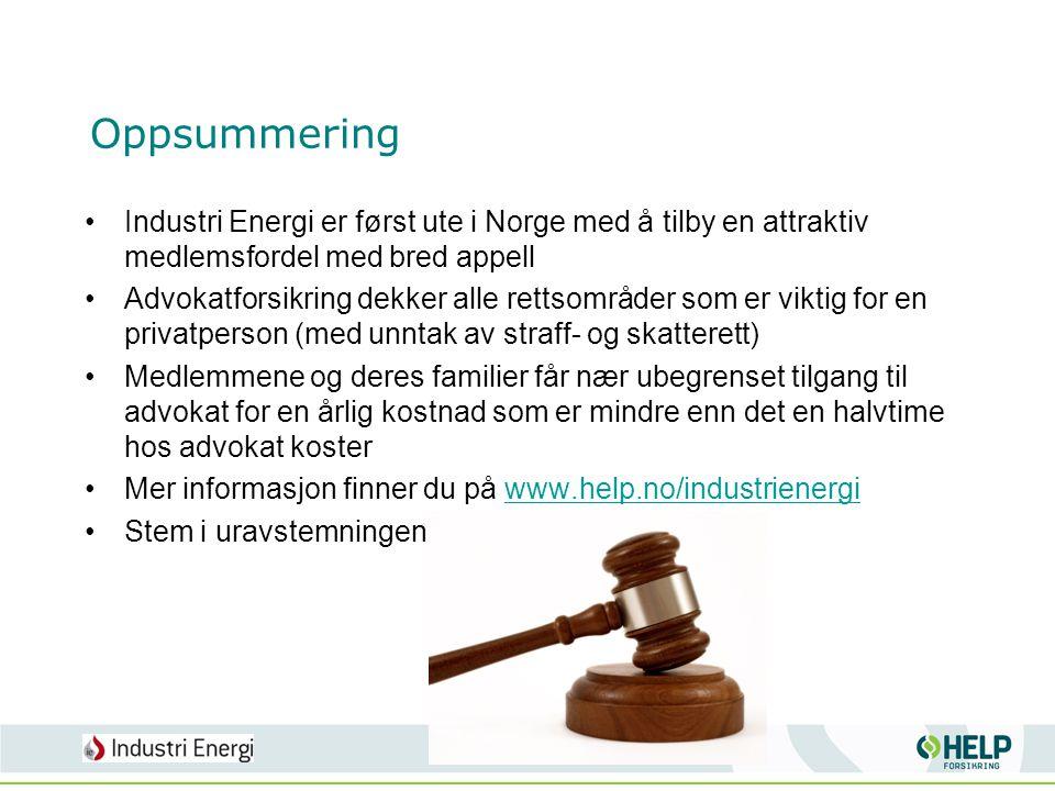 Oppsummering Industri Energi er først ute i Norge med å tilby en attraktiv medlemsfordel med bred appell.