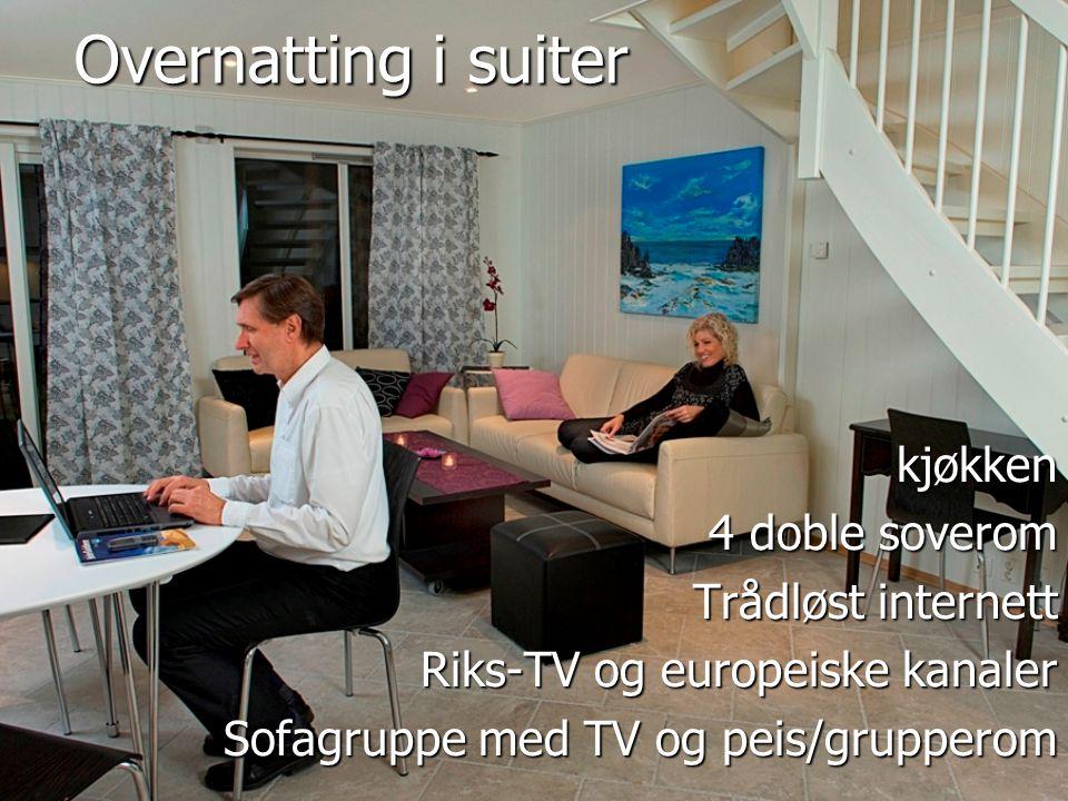 Overnatting i suiter kjøkken 4 doble soverom Trådløst internett