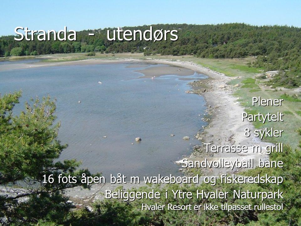 Stranda - utendørs Plener Partytelt 8 sykler Terrasse m grill
