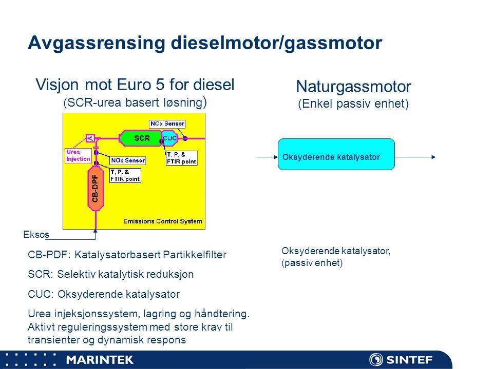 Avgassrensing dieselmotor/gassmotor