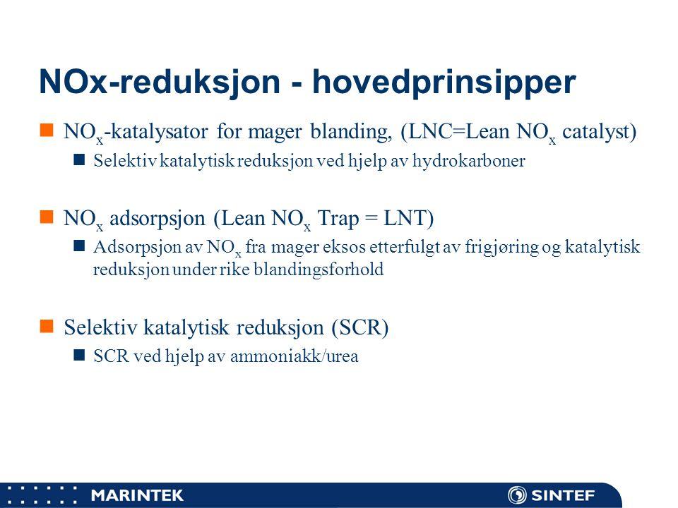 NOx-reduksjon - hovedprinsipper