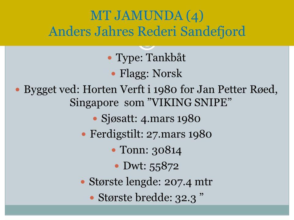 MT JAMUNDA (4) Anders Jahres Rederi Sandefjord