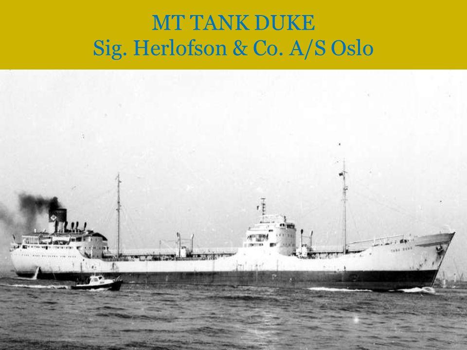 MT TANK DUKE Sig. Herlofson & Co. A/S Oslo