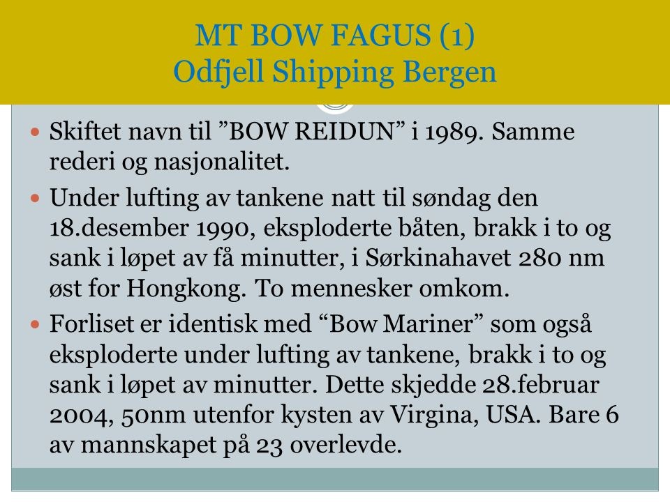 MT BOW FAGUS (1) Odfjell Shipping Bergen