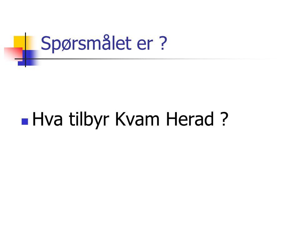 Spørsmålet er Hva tilbyr Kvam Herad