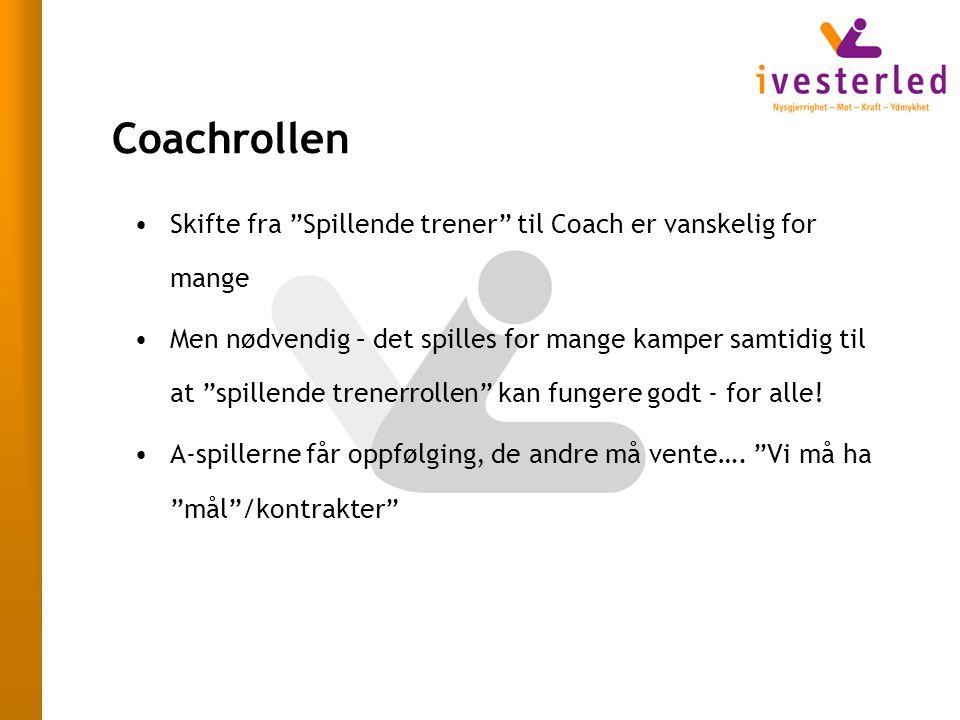 Coachrollen Skifte fra Spillende trener til Coach er vanskelig for mange.